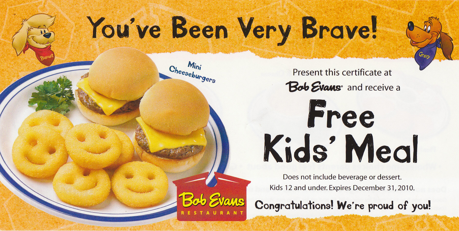 Giveaway Coupons For Free Bob Evans Kids Meal Hillbilly